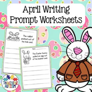 April No Prep Writing Prompt Worksheets