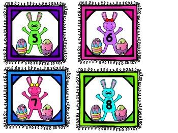 April Number Cards