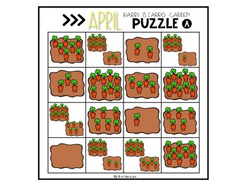 April Number Sense Math Puzzles