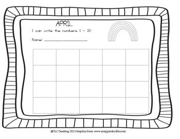 April Numbers 1 - 20