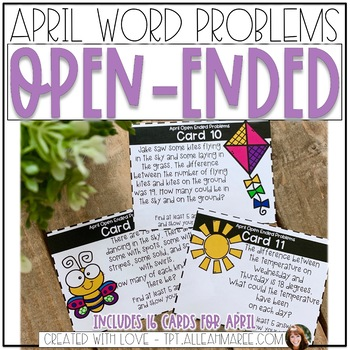 April Open-Ended Word Problems