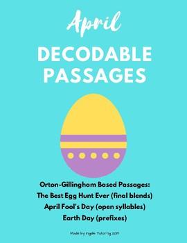 April Orton-Gillingham Decodable Passages