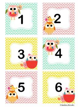 April Owl Calendar Cards and Headers