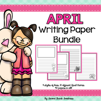 April Writing Paper Bundle