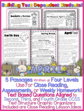 April Passages w/ CCSS Text Based Questions: Weekly Homework Close Reading