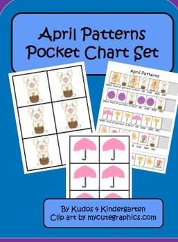 April Patterns (Pocket Chart Set Included)