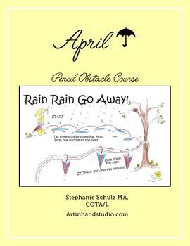 April Pencil Obstacle Course