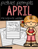 April Picture Writing Prompts for Beginning Writers