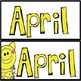 April Pig Theme Calendar Set