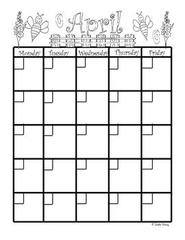 April Planning Calendar