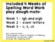 April Play Dough Spelling Words