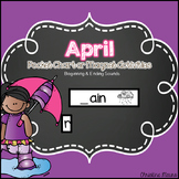 April Pocket Chart or Magnetic Letter Activities
