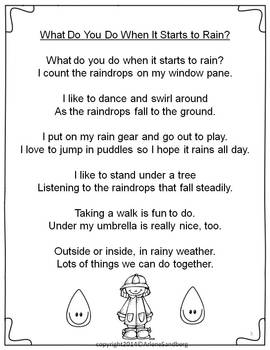 Spring Rain Poem and Writing Freebie