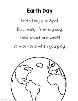 April Poems for Building Reading Fluency & Writing Stamina (K-1)