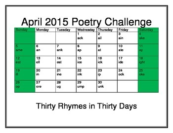 April Poetry Challenge 2015