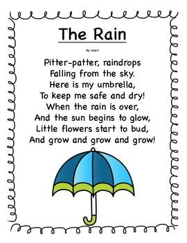 April Poetry Kindergarten & First Grade