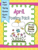 April Poetry Pack ~ w/ daily Shared Reading plans {Common Core Aligned}