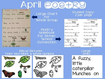 April Poetry with Rebus Pictures