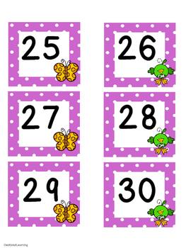 April Polka Dot Calendar Set