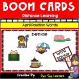 April Positional Words Activities for Kindergarten | Boom Cards