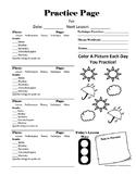 April Practice Page
