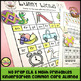 Kindergarten No Prep Phonics, Literacy & Math Work for April