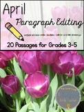 April Print & Go Paragraph Editing: 20 Passages for Grades 3-5