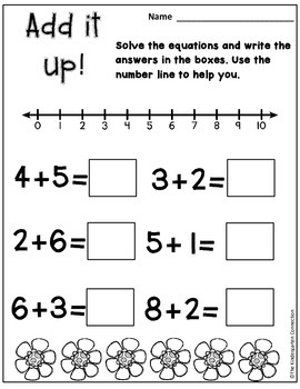 April Print-That's It! Kindergarten Math and Literacy Printables SAMPLER