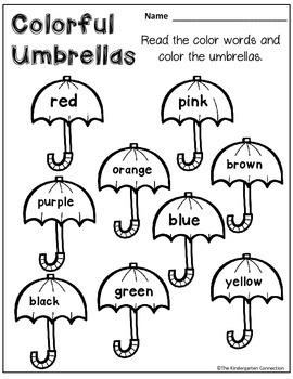 April Print-That's It! Kindergarten Math and Literacy Printables SAMPLER