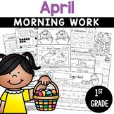 1st Grade Morning Work NO PREP April Worksheets