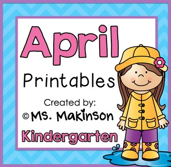photo relating to Kindergarten Packet Printable titled April Printables - Kindergarten Literacy and Math