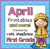 April Printables - First Grade Literacy and Math