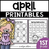 April Printables - Math and Literacy Packet for First Grade [Spring]