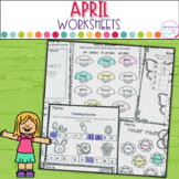April Printables- Math and Literacy On The Go