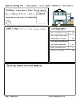 April Problem Solving Path: Real Life Word Problems for 2nd Grade / Year 3