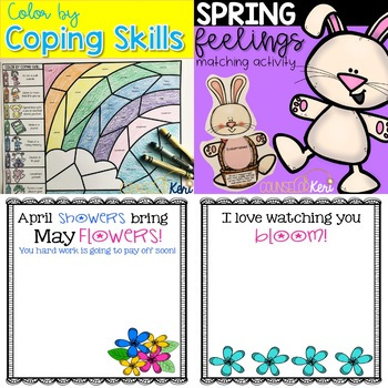 April Spring & Easter School Counseling Resource Bundle
