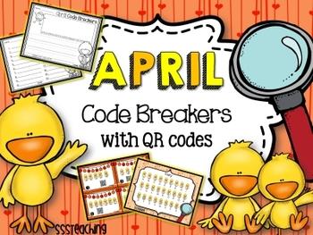April QR Code Breakers  - Sight Word Work