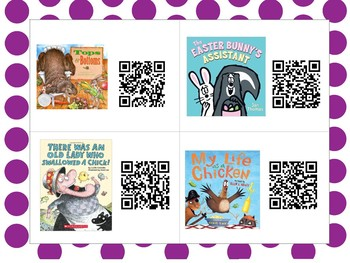 April QR Codes for Read Alouds