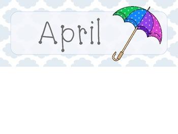 April Quatrefoil Calendar Set