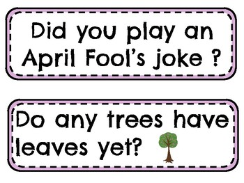 April Question of the Day Prompts