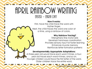 April Rainbow Writing