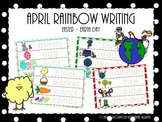 April Rainbow Writing