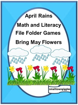 Spring  Math & Literacy File Folder Games Autism Special E