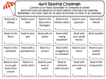NO PREP April Reading Challenge!