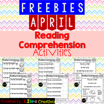 April Reading Comprehension Activities Freebies