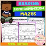 April Reading Comprehension Mazes
