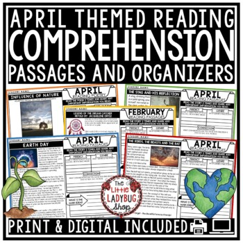 April Reading Comprehension Passages 4th Grade, 3rd Grade