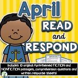 April Reading Comprehension & Written Response