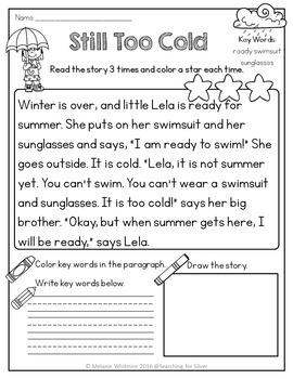 April Fluency Passages