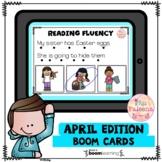 April Reading Fluency Digital Task Cards (Boom Cards™)